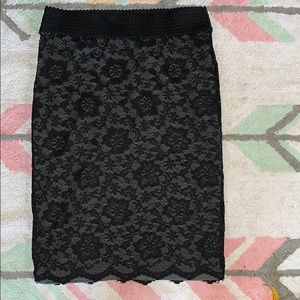 Maurices lace pencil skirt